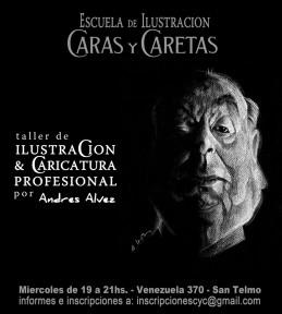 Flayer C&C - taller de Ilustracion y caricatura profesional -