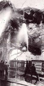 Jockey club incendiado